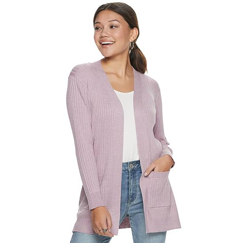 Juniors' SO® Ribbed Boyfriend Cardigan