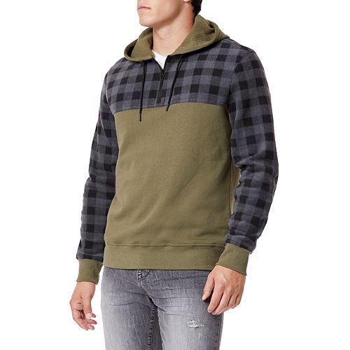 Men's Unionbay Check-Sleeve Pullover Hoodie