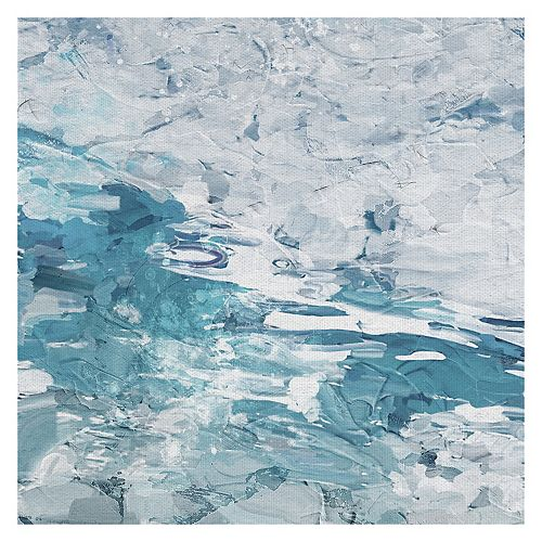 Fine Art Canvas Tranquility Blue Square Canvas Wall Art
