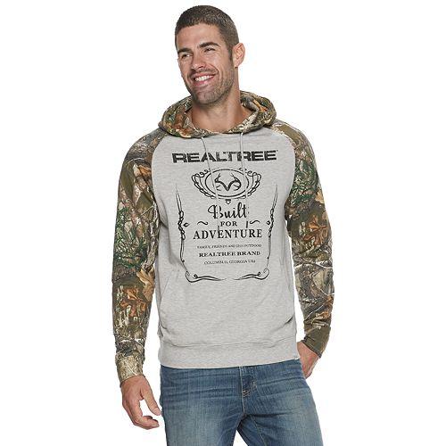 Men's Real Tree Raglan Pullover Hoodie