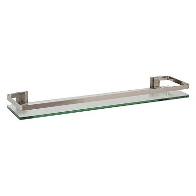 Neu Home Nickel-Rail Glass Shelf