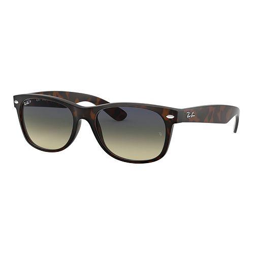 Ray-Ban RB2132 New Wayfarer 55mm Square Polarized Sunglasses