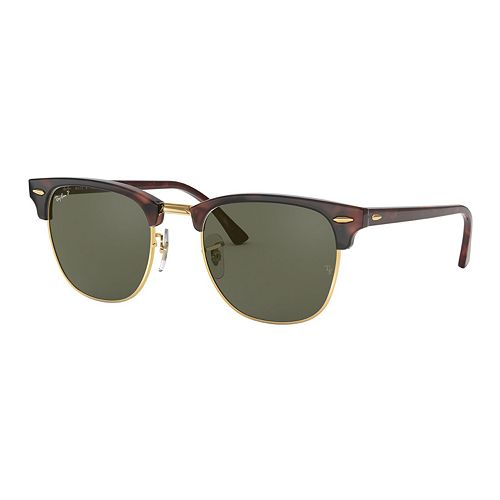 Ray-Ban RB3016 Clubmaster Classic 51mm Square Polarized Sunglasses