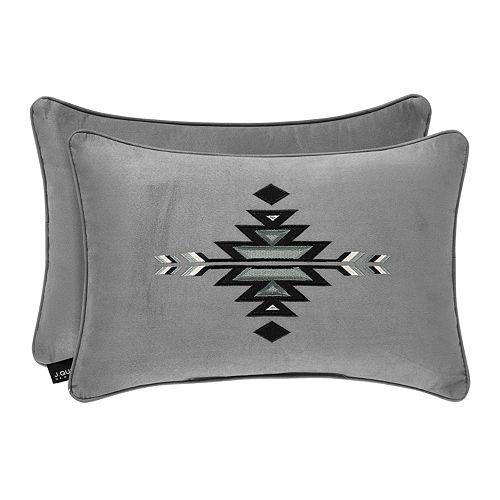 37 West Brody Silver Boudoir Decorative Throw Pillow