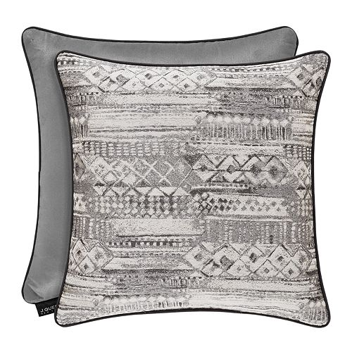37 West Brody Graphite Square Decorative Throw Pillow
