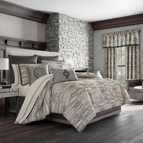 37 West Brody Graphite 4-Piece Comforter Set