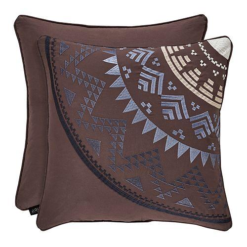 37 West Oakville Chocolate Square Decorative Throw Pillow
