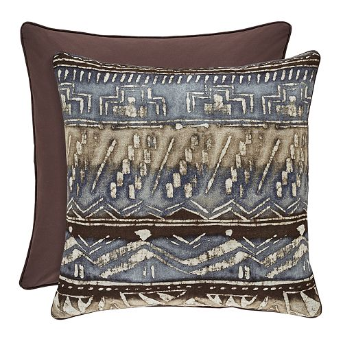 37 West Oakville Chocolate Square Decorative Throw Pillow