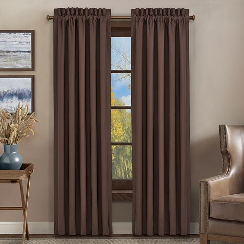 37 West Oakville Chocolate Window Curtain Set