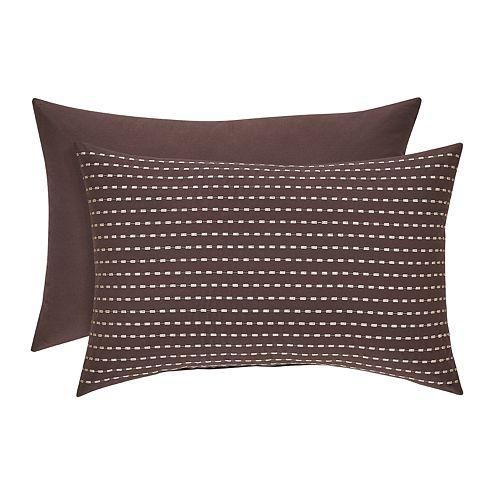 37 West Oakville Chocolate Boudoir Decorative Throw Pillow