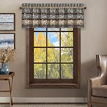 37 West Oakville Chocolate Window Straight Valance