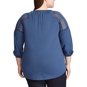 Plus Size Chaps 3/4 Sleeve Knit Top