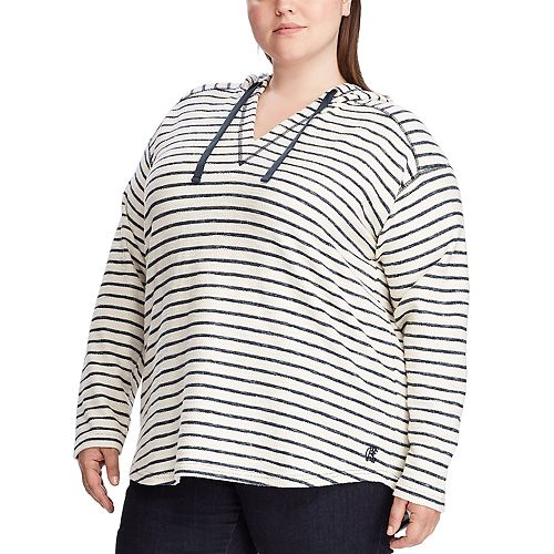 Plus Size Chaps Long Sleeve Knit Hoodie