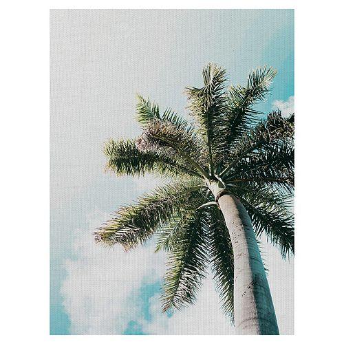 Fine Art Canvas Skyward Palm Canvas Wall Art