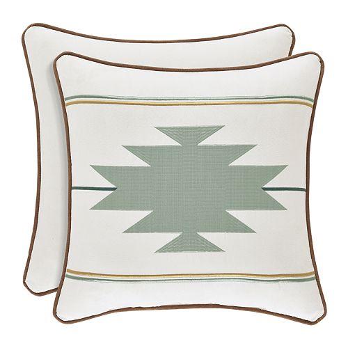 37 West Plainview Spa Square Decorative Throw Pillow