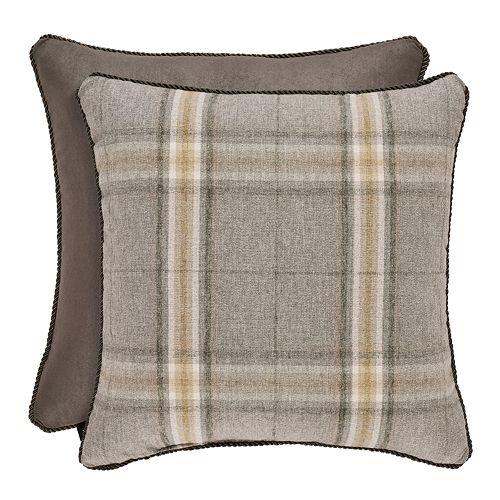 37 West Jamison Grey Square Decorative Throw Pillow