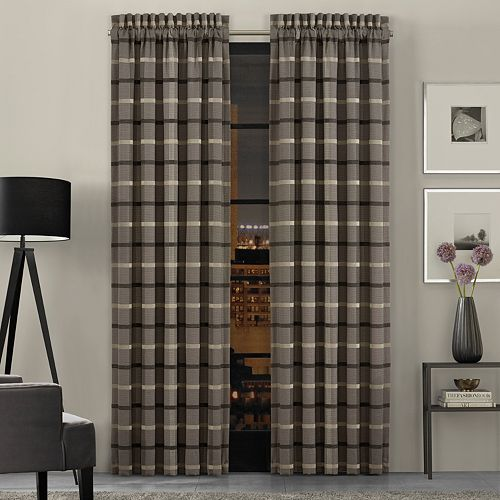 37 West SoHo Graphite Window Curtain Set