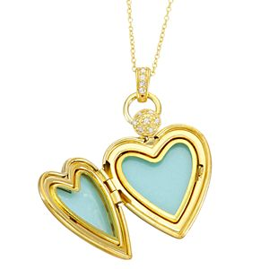 """Sterling Silver Diamond Accent """"Faith, Hope, Love"""" Heart Pendant Necklace"""
