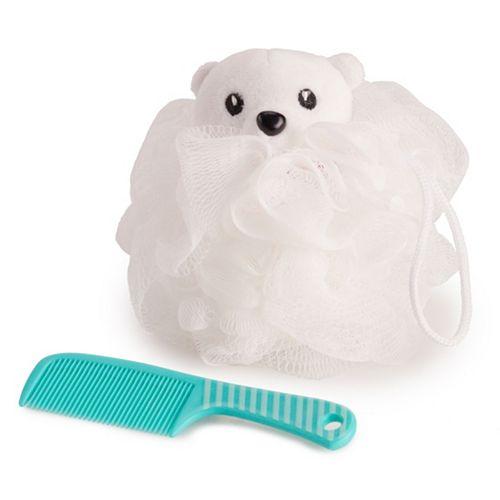 Simple Pleasures Polar Bear Loofah & Comb Set