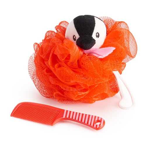 Simple Pleasures Penguin Loofah & Comb Set