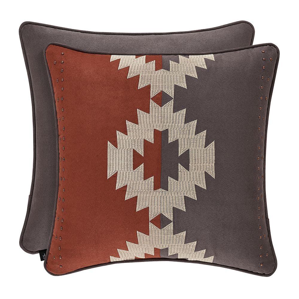 37 West Baldwin Rust Square Decorative Throw Pillow