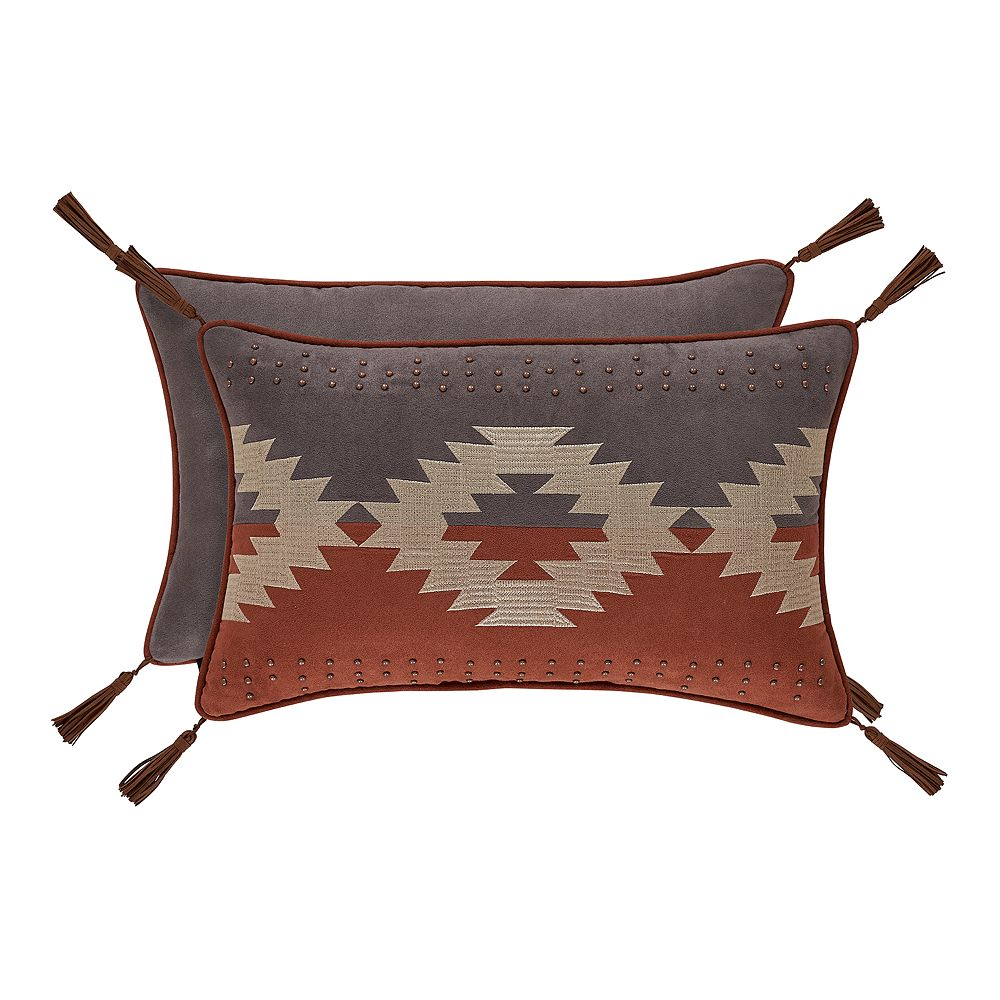 37 West Baldwin Rust Boudoir Decorative Throw Pillow