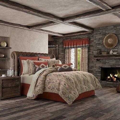 37 West Baldwin Rust 4-Piece Comforter Set