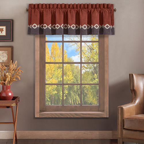 37 West Baldwin Rust Window Straight Valance