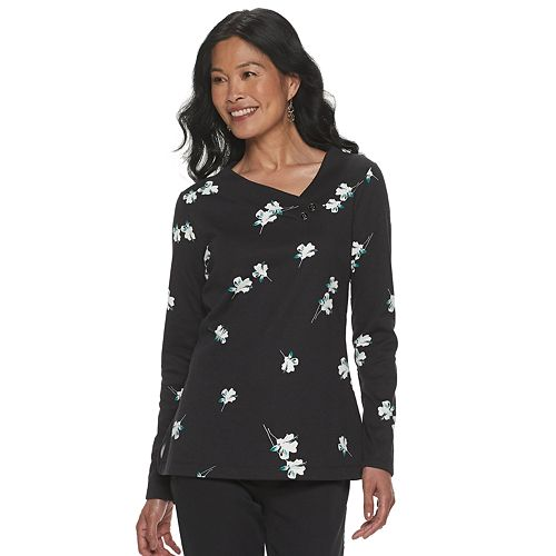 Women's Croft & Barrow® Long Sleeve Polished Shirt