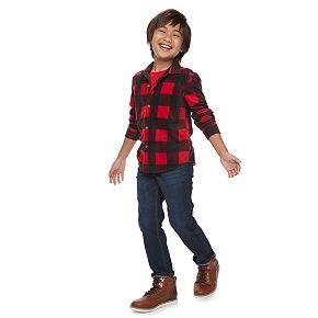 Boys 4-12 Jumping Beans® Plaid Microfleece Shirt