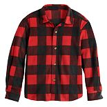 Boys 4-12 Jumping Beans® Plaid Microfleece Shirt