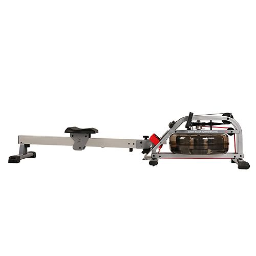 Sunny Health & Fitness Water Rowing Machine Rower w/ LCD Monitor