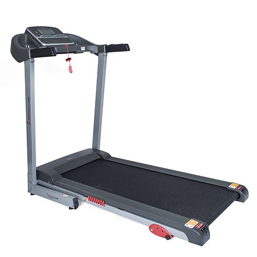 Sunny Health & Fitness Electric Treadmill w/ Manual Incline and USB Charging Function