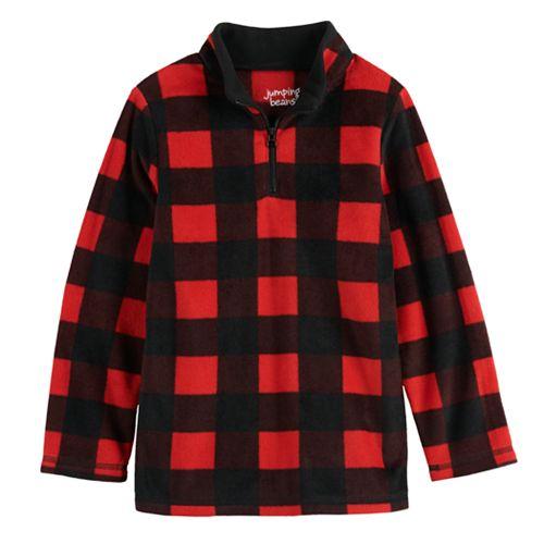 Boys 4-12 Jumping Beans® Fleece Quarter Zip Pullover Top