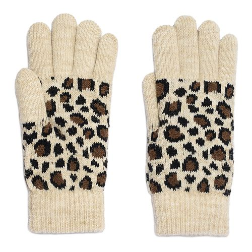 Women's Igloo Leopard Print Knit Glove