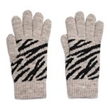 Women's Igloo Zebra Print Knit Glove