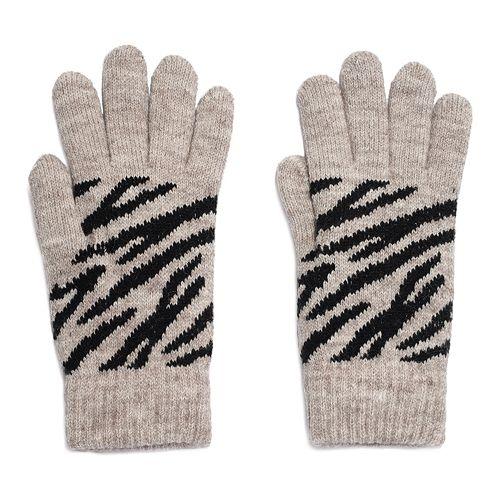 Women's Igloo Zebra Print Knit Glove