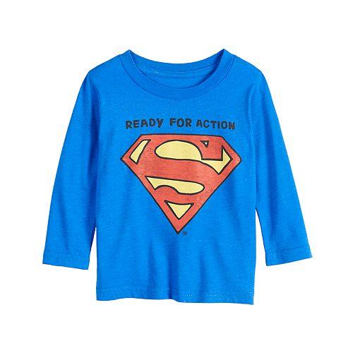 Baby Boy Jumping Beans® Superman Logo Long-Sleeve Tee