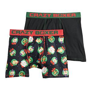 Men's Crazy Boxer Novelty Holiday Boxer Briefs