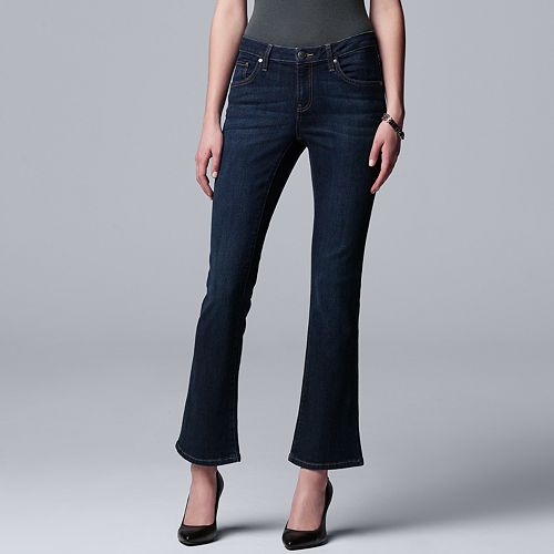 Petite Simply Vera Vera Wang Power Stretch Bootcut Jeans