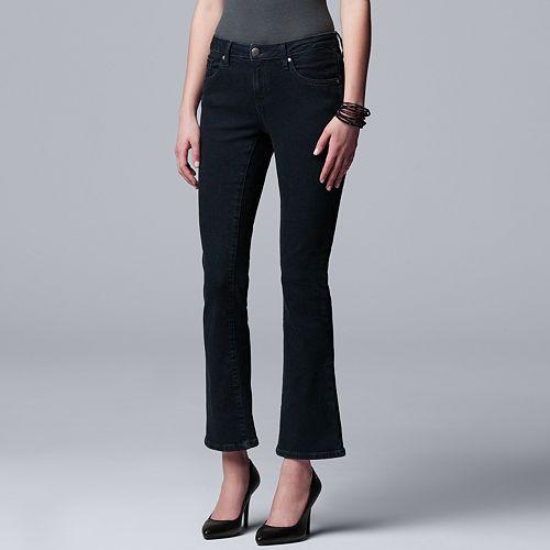 Petite Simply Vera Vera Wang Power Stretch Bootcut Jeans