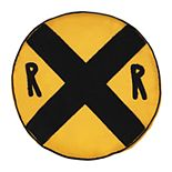 Waverly Kids All Aboard Railroad Sign Decorative Pillow