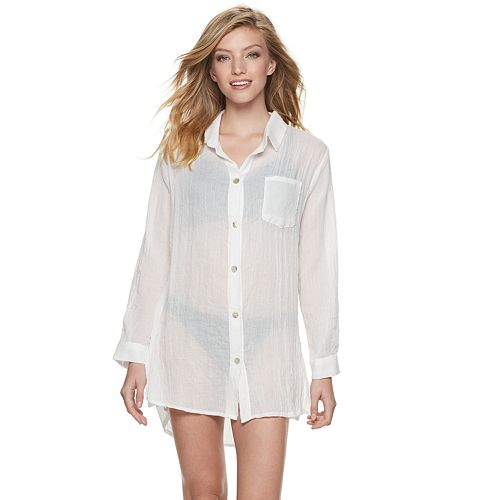Women's Apt. 9® Button-Front Cover-Up