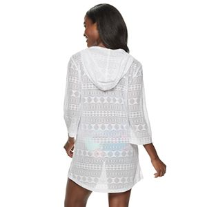 Women's Apt. 9 Hood Lace-Up Tunic Swim Cover-Up