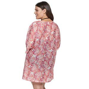 Plus Size Apt. 9® Palm Print Tunic Cover-Up