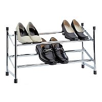 Neu Home Expandable Metal Shoe Rack
