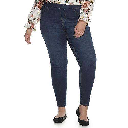 Juniors' Plus Size American Rag Tummy Toner Jeans