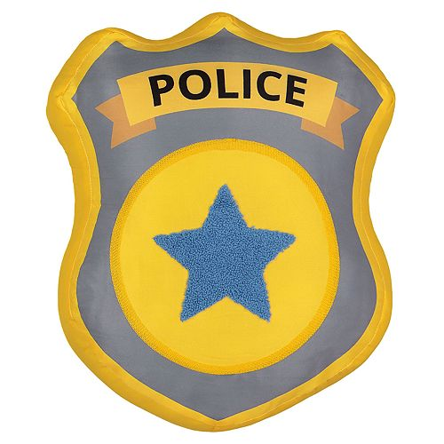 Waverly Kids Hero Squad Police Badge Decorative Pillow
