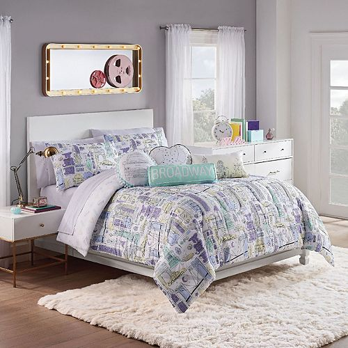 Waverly Spree Cityscape Twin 2-pc. Reversible Comforter Set