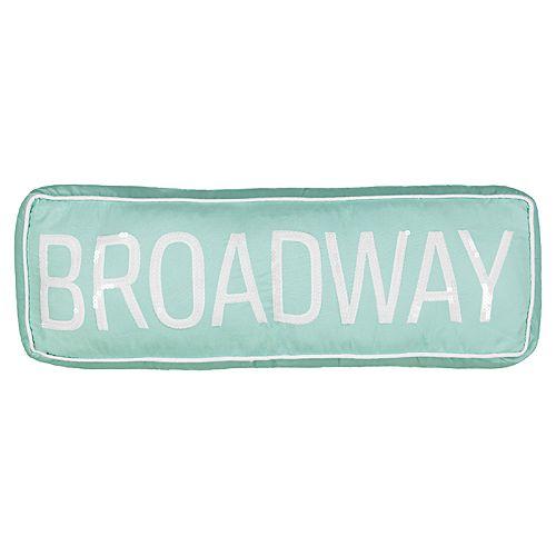 Waverly Spree Cityscape Broadway Sign Decorative Pillow